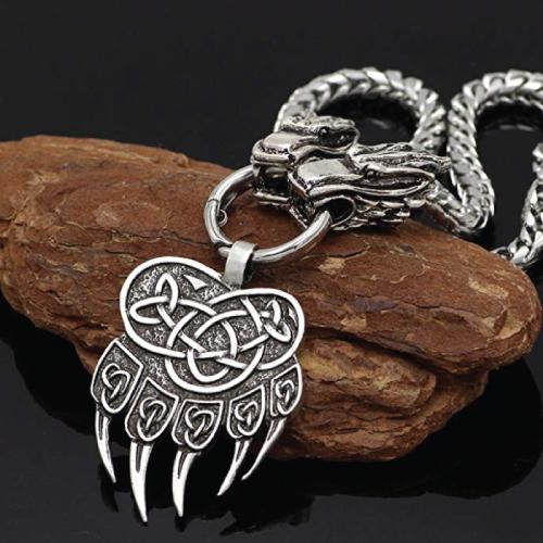 xicoh Viking Scandinavian Bear Paw Necklace