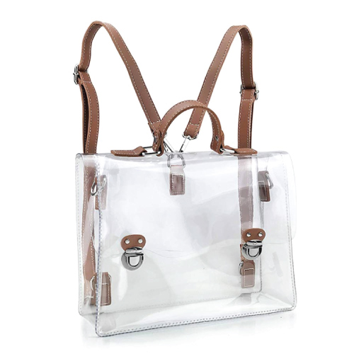 Cute Hoxis Clear Vintage Satchel Backpack