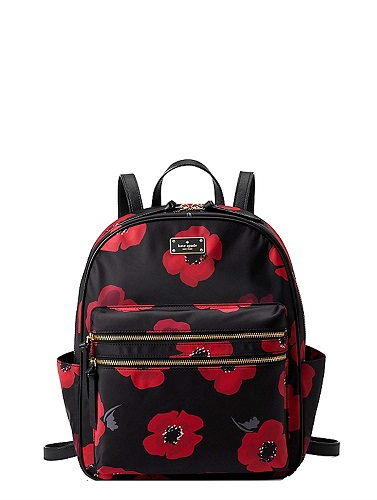 Kate Spade Black Wilson Road Poppy Bradley Large Backpack