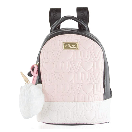 cute-mini-backpacks Luv Betsey Womens Unicorn Pom Mini Backpack