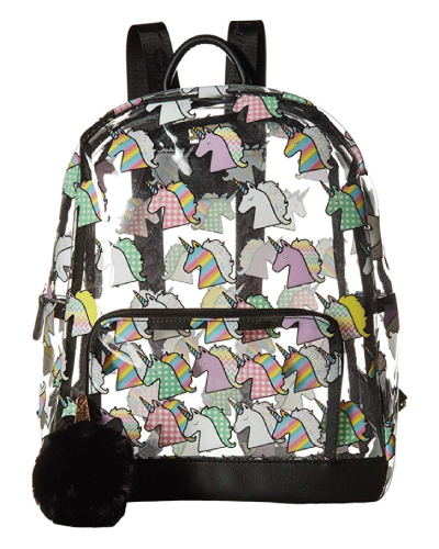 Luv Betsey Unicorn Cute Clear Backpack