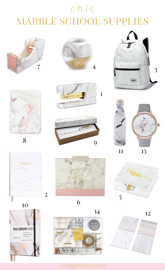 14 Marble Design Stationery And School Supplies