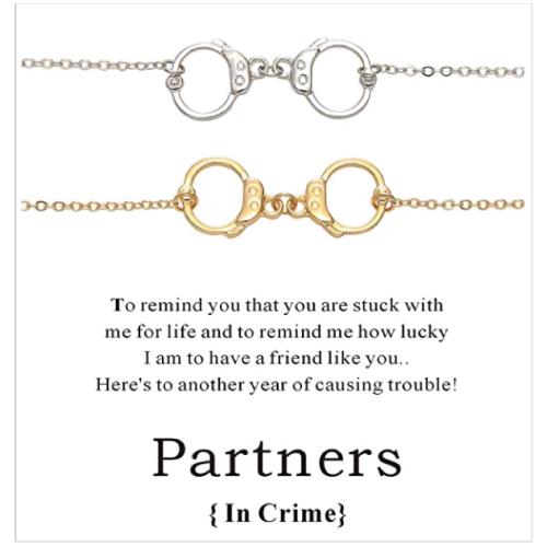 Cyberny Handcuff Best Friend Bracelet Set