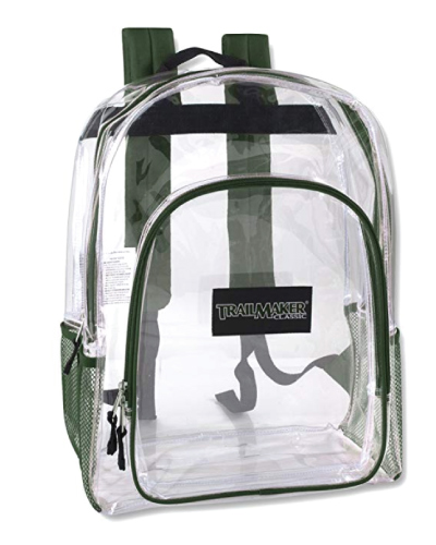 Cute Trail maker Water Resistant Clear Backpack