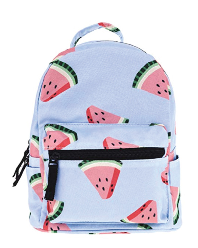 cute-mini-backpacks Watermelon Print Mini Backpack