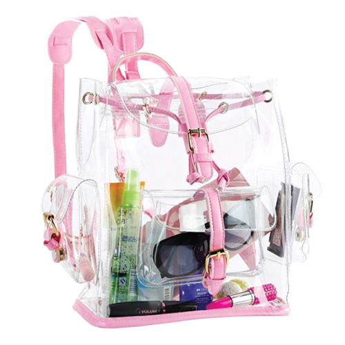 Zicac Drawstring PVC Clear Cute Backpack