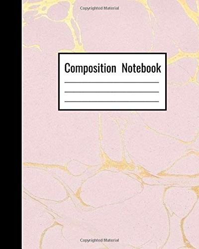 Pastel Pink Gold Composition Notebook
