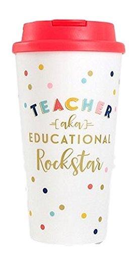 """Teacher aka Educational Rock Star"" Travel Mug"