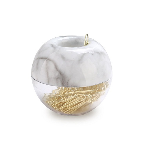 Marble Gold Paper Clips Holder