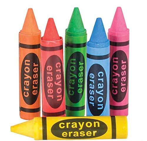 Novelty Crayon Shaped Erasers