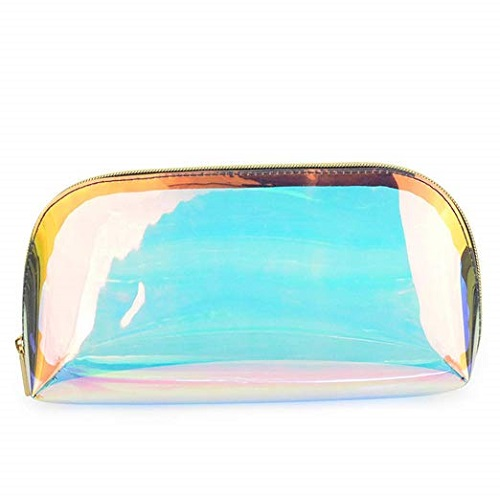 Holographic Iridescent Clear Pencil Case