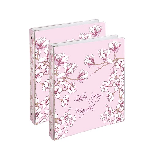 Sakura Spring Flowers Ring Binder