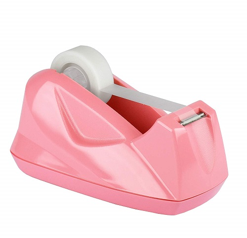 Pink-Back-to-School-Supplies Pink Tape Dispenser