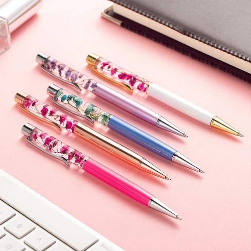 Crystal Flower Ballpoint Pens