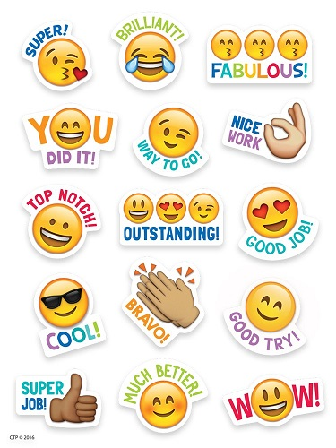 Emoji Rewards Stickers For Students