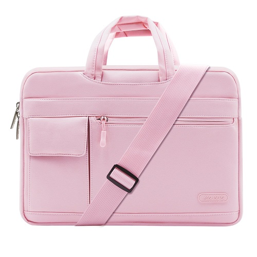 MOSISO Laptop Shoulder Bag  Pink-Back-to-School-Supplies