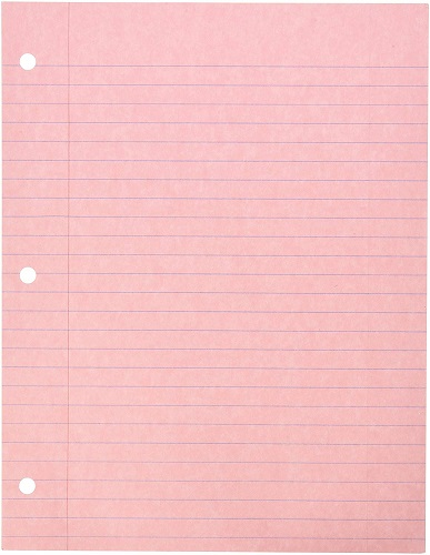 Pink Filler Paper Pink-Back-to-School-Supplies