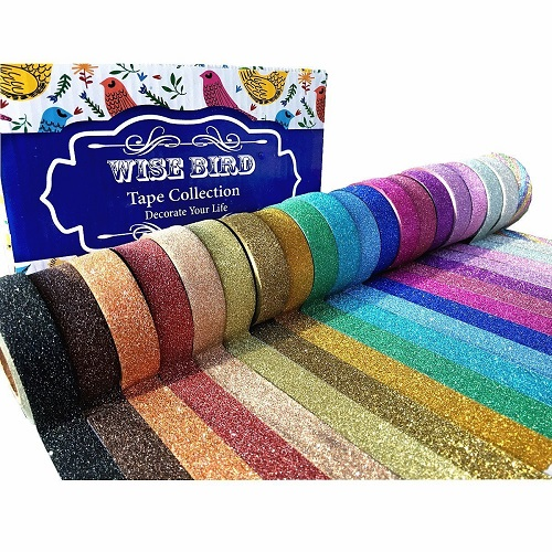 Wise Bird Glitter Sparkle Tapes For Art Classes