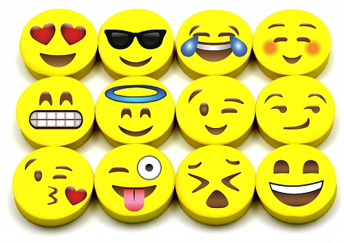 Emoji Erasers School Supplies
