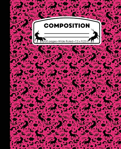 Hot Pink Unicorn Composition Notebook