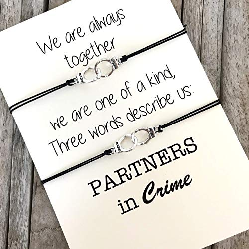 Friendship Partners in Crime Handcuff Bracelets