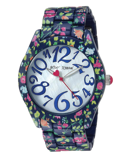 Betsey Johnson Floral Bracelet Watch