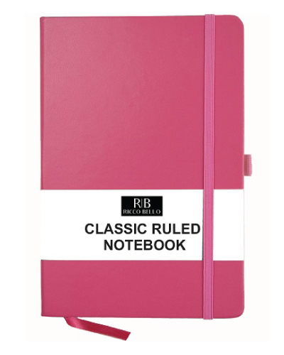 RICCO BELLO Pink A5 Notebook Pink-Back-to-School-Supplies