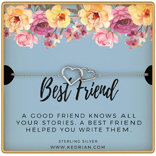 KEDRIAN Best Friend Bracelet on Floral Keepsake Card