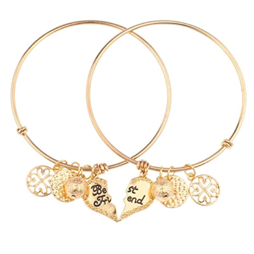 Lux Accessories Best Friends Forever BFF Charm Bracelet Set