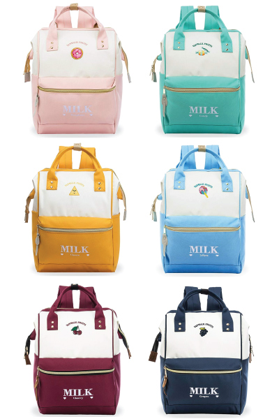 Kawaii Milk Carton Daypacks Backpacks Bags