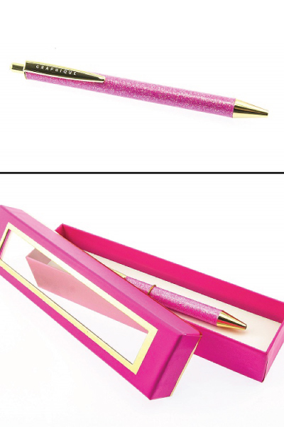 Graphique Glittery Pink Pen - Pink Back to School Supplies