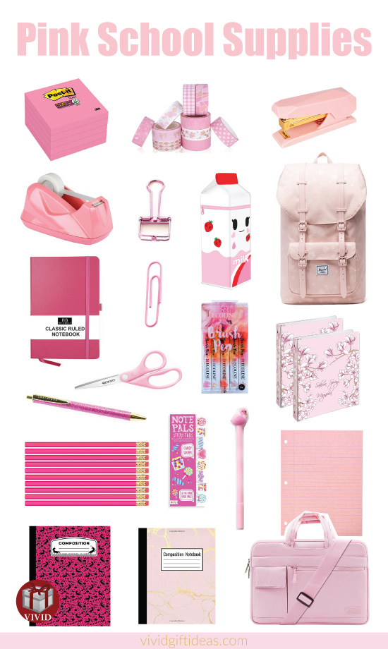 20 Pink School Essentials For New School Year Pink Back