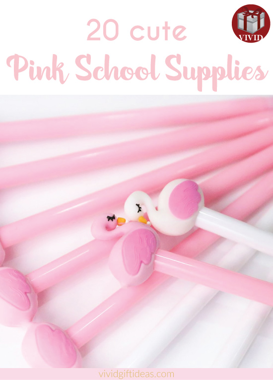 20 Cute Back-to-School Pink Supplies