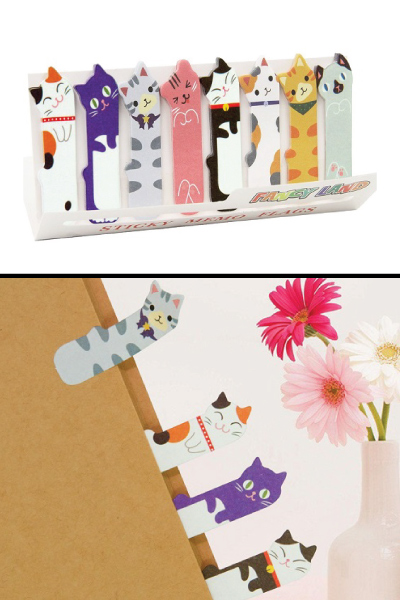 Cute Cat Sticky Index Tabs for teachers
