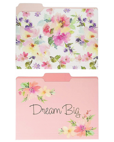 Graphique Watercolor Floral File Folder Set