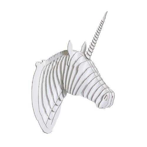 Cardboard Unicorn Taxidermy 3D Art Puzzle | Teen Girl Stocking Stuffers