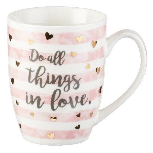 Do All Things in Love Motivational Coffee Mug