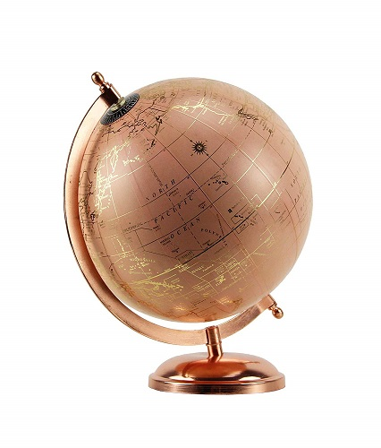 Rose Gold Globe Tabletop Decor
