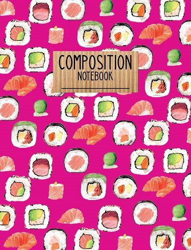 Sushi Pattern Composition Notebook | Kawaii Stationery