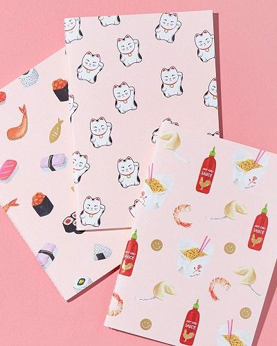 Sonix Stationery Kawaii Food Notebook Set | Kawaii Stationery