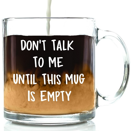 Funny Work Mugs: Don't Talk To Me Funny Mug for Work