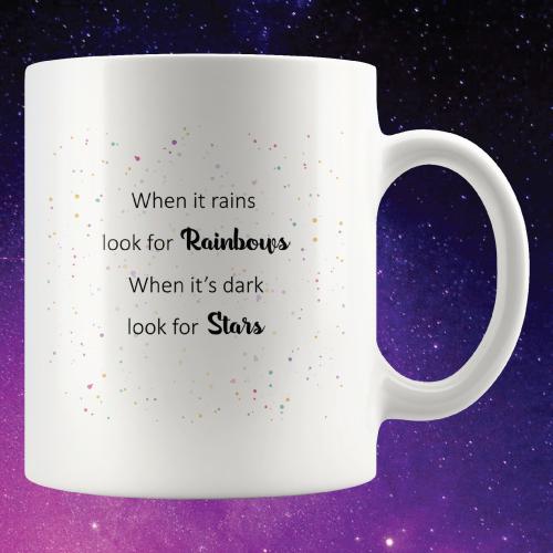 When It Rains Oscar Wilde Quote Mug | Teen Girl Stocking Stuffers