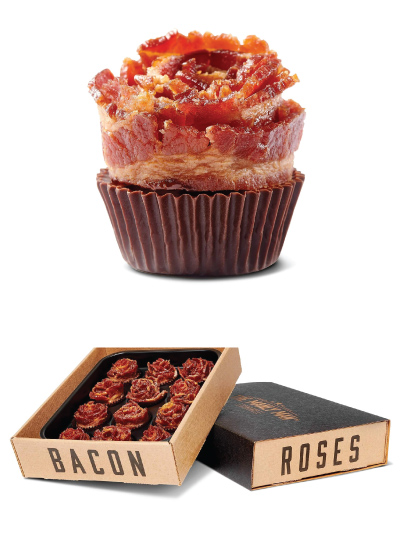The Manly Man Company Bacon Rose Bouquets