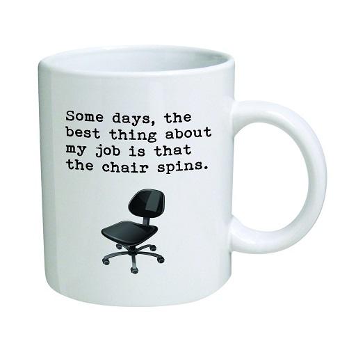 Funny Work Mugs: Office Chair Novelty Coffee Mug