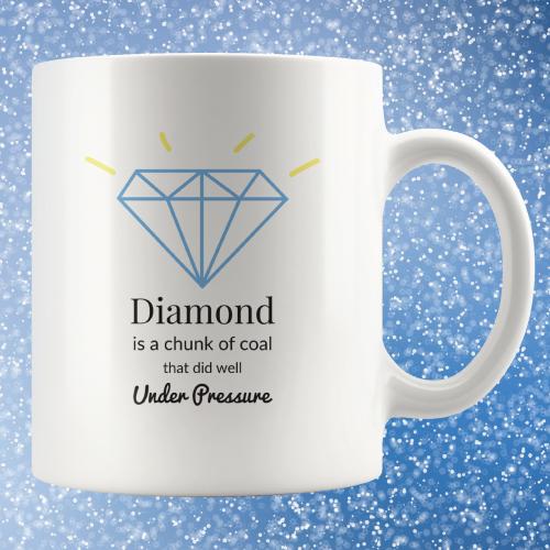 Diamond Inspirational Quote Mug