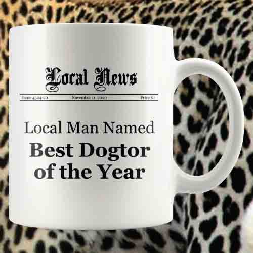 gifts-for-veterinary-technicians-Man-Best-Dogtor-Mug