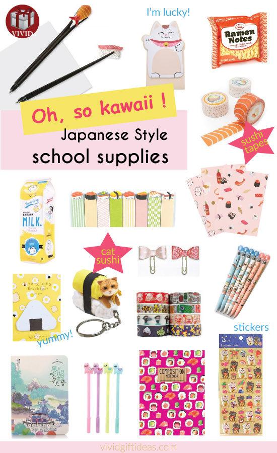 Kawaii Stationery and School Supplies