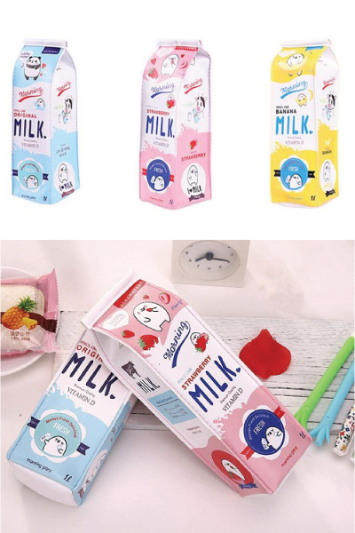 Milk Carton Pencil Case | Kawaii Stationery