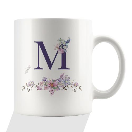 Bodhi Paw Floral Monogram Mug