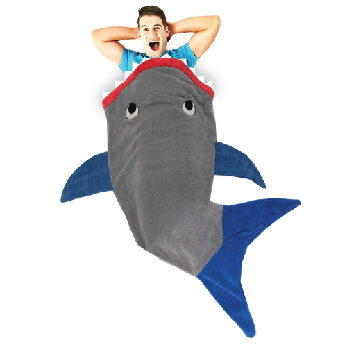 Blankie Tails Shark Blanket for Adults | going-to-college-gifts